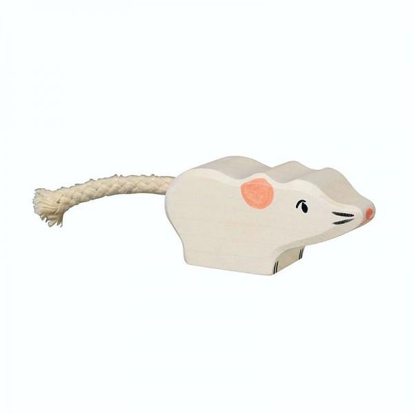 Holztiger Spielfigur Maus