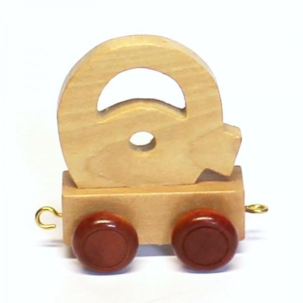 Buchstabenzug Buchstabe Q, Holz