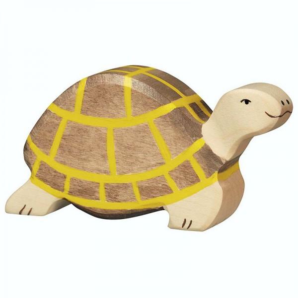 Holztiger Spielfigur Schildkröte