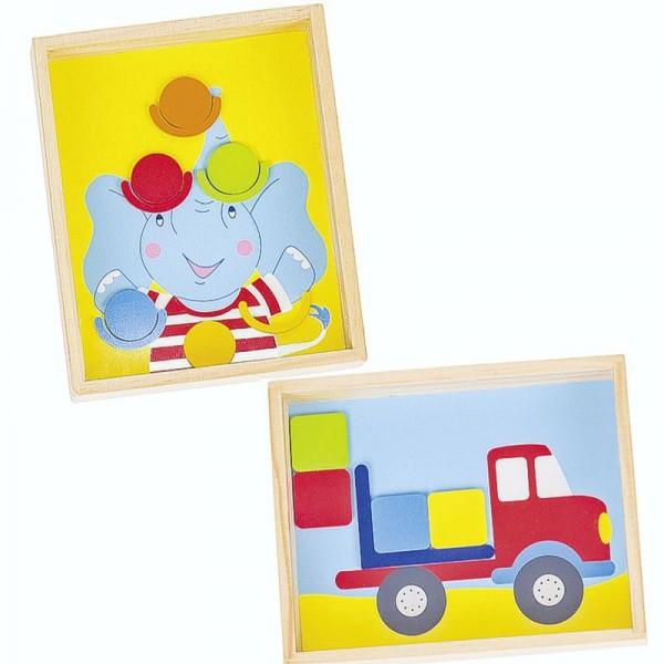 Geduldspiele Elefant und Lastwagen, 2er Set