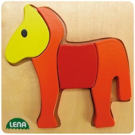 Holzpuzzle Pferd