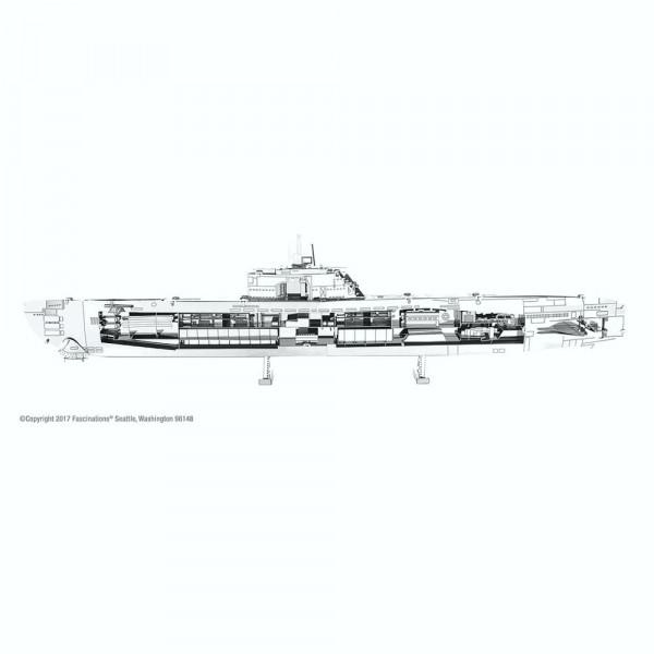 Metal Earth 3D-Metallbausatz German U-Boat Type XXI