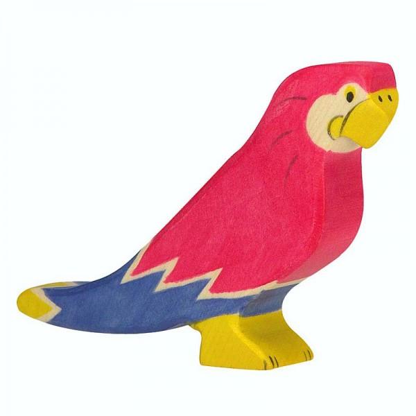Holztiger Spielfigur Papagei