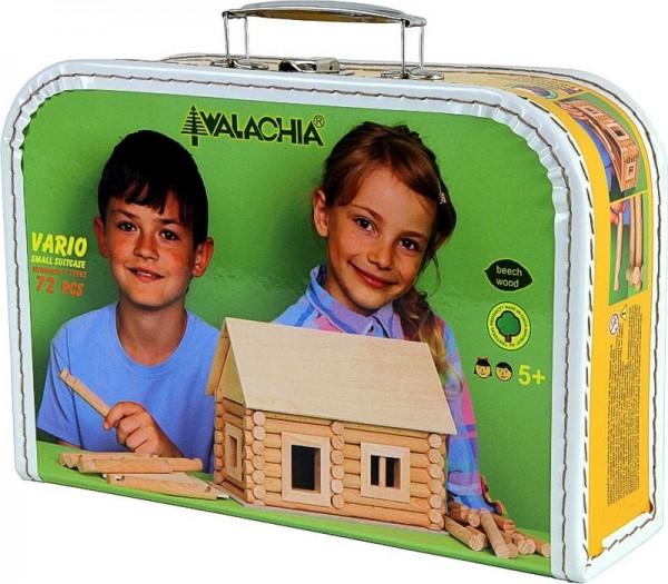 Walachia Holzbaukasten Vario im Koffer, 72 Teile