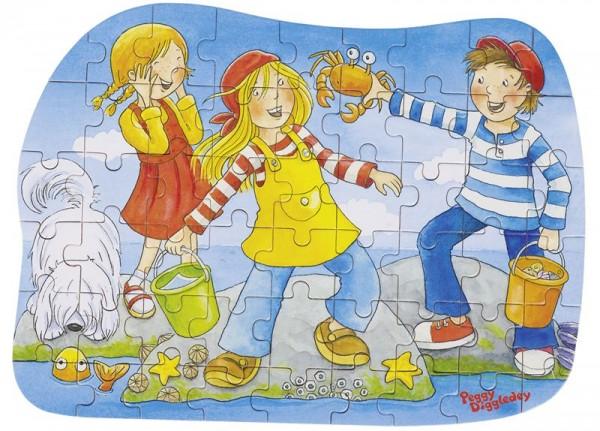 Konturenpuzzle Peggy Diggledey, Am Wasser, 54 Teile aus Holz