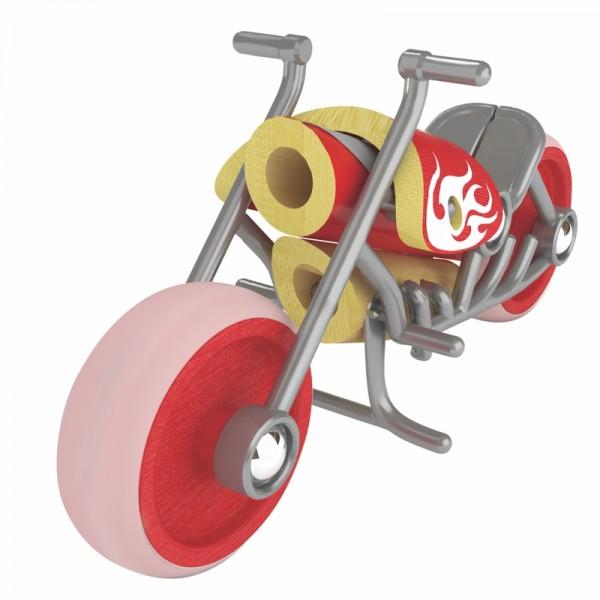 e-Chopper Spielzeugmotorrad aus Bambus und Kunststoff