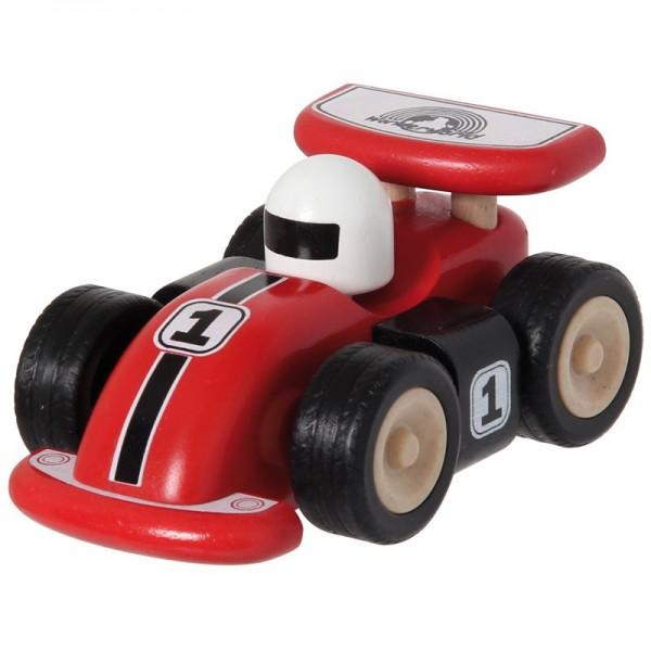 Racing Car, rotes Rennauto aus Holz