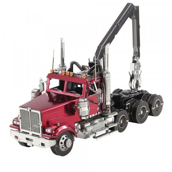 Metal Earth 3D Metallbausatz, LKW Western Star® 4900 Log Truck, Holztransporter