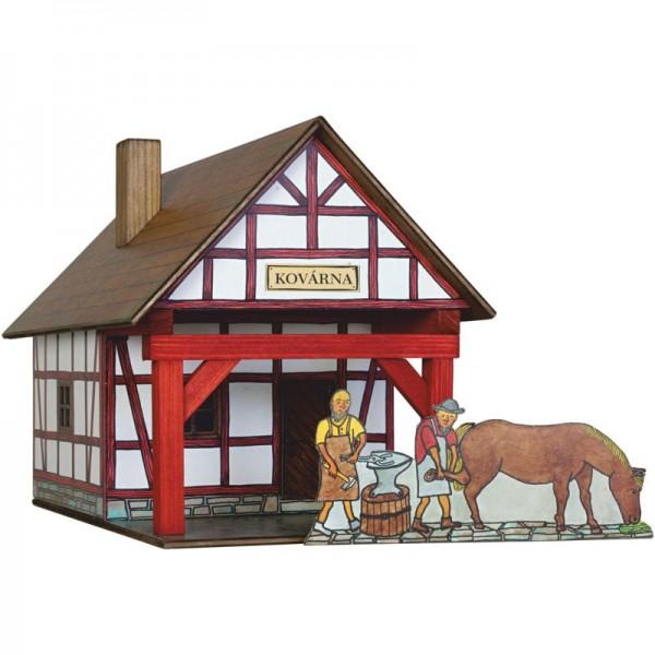 Walachia Holzbausatz Fachwerk Schmiede