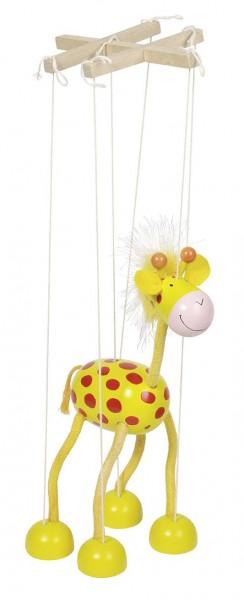 Marionette Giraffe, aus Holz