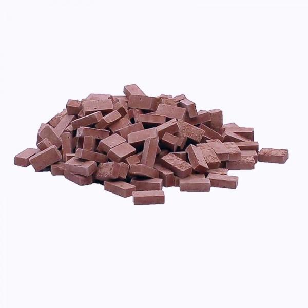 Lehmziegel, Miniaturmauersteine, M1:32, 800 Stk., lehmfarben