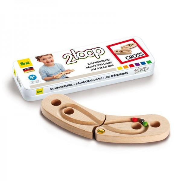 Balancierspiel 2loop Cross, aus Holz