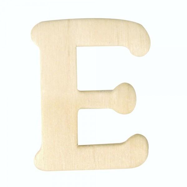 Holz-Buchstabe E, 4 cm
