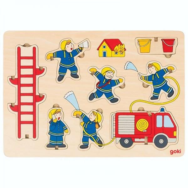Aufstellpuzzle Feuerwehr, Holz, 8 Teile
