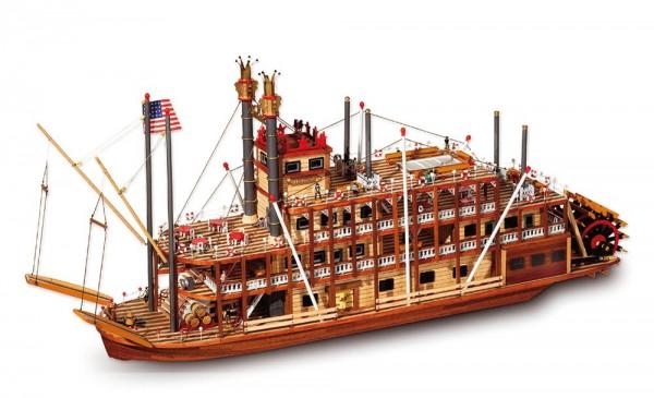 Occre Schiffbausatz Mississippi Raddampfer, M 1:80