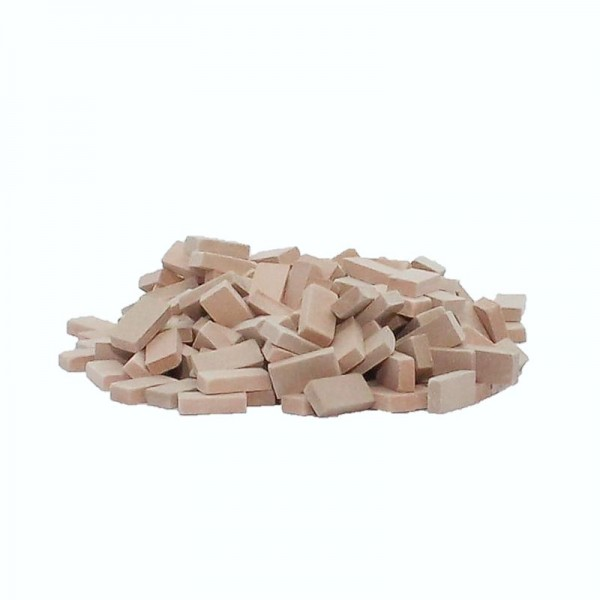 Miniaturmauersteine, Ziegelsteine M1:32/35, 1000 Stk., Keramik, terrakotta Mix