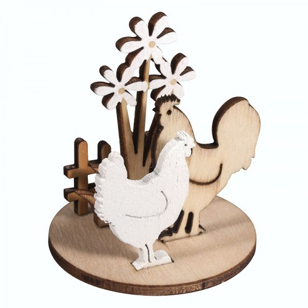 Holz-Steckteile Hühnerwiese, zweier Set