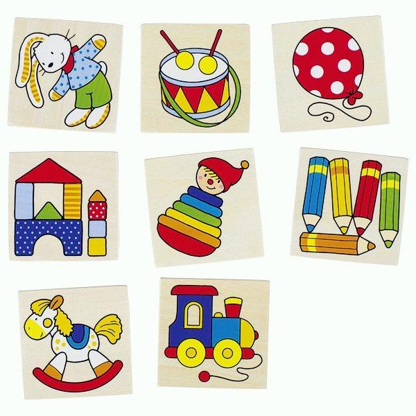 Memospiel Spielzeug, 16 Teile aus Holz