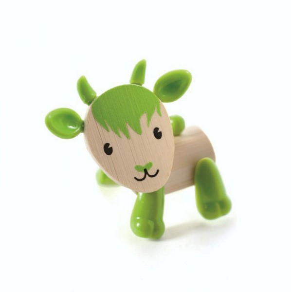 Tierfigur Ziege, aus Bambus und Kunststoff