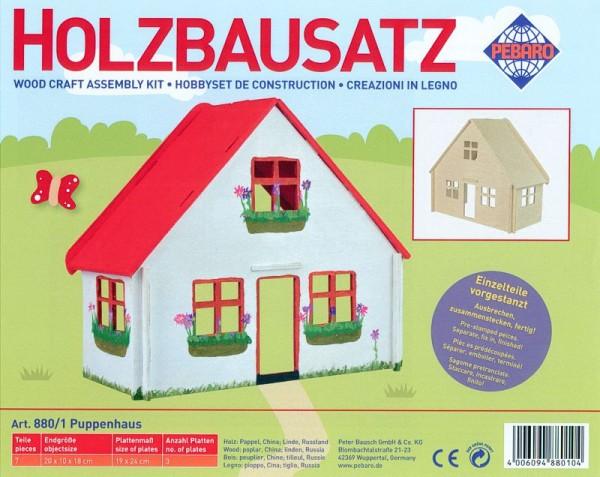 Holzbausatz Puppenhaus klein
