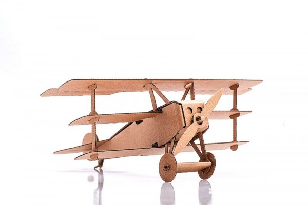 Flugzeug Dreidecker, Kartonbausatz