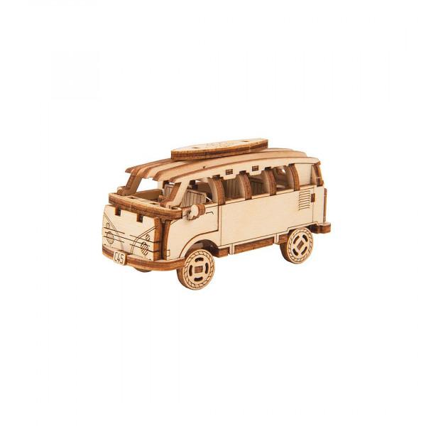 Wooden City Superfast: Retro Ride 1, Minibus 3D Holzbausatz