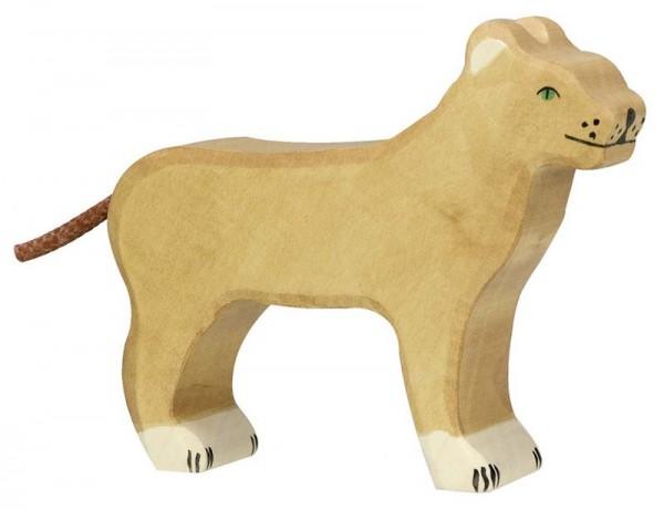 Holztiger Spielfigur Löwin