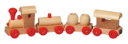 Holzeisenbahn mit Magnetkupplung
