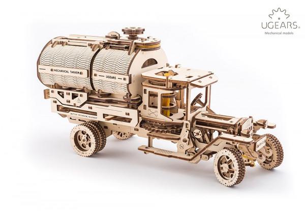 Ugears Holzbausatz Tankwagen, mit mechanischer Funktion