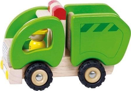 Holzspielzeug Mini Müllwagen