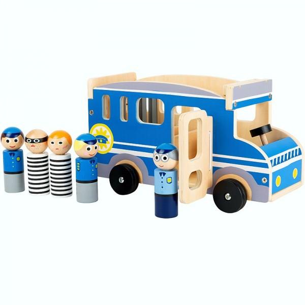 Spielauto Polizeibus XL, Holzspielzeug, ab 18 Monate