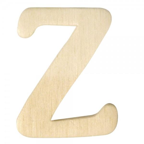 Holz-Buchstabe Z, 4 cm