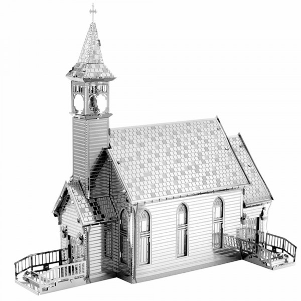 Metal Earth 3D Metallbausatz Old Country Church