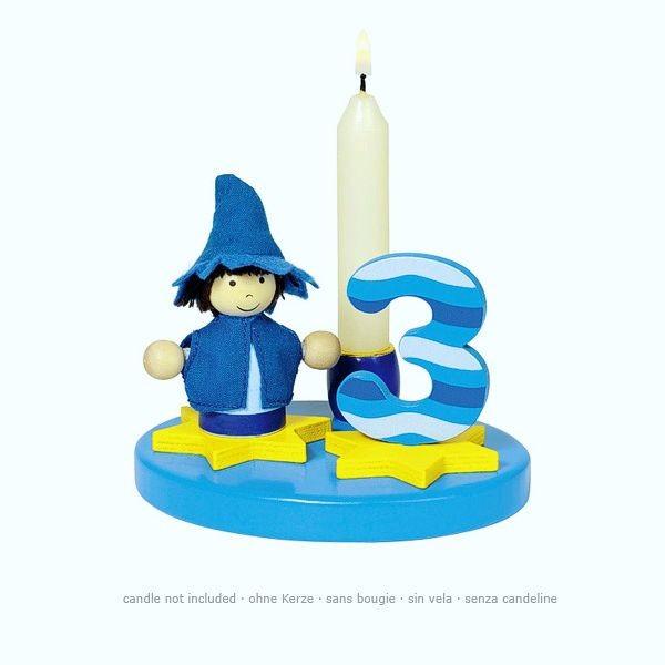 Geburtstagskind kleiner Junge, mit austauschbaren Zahlen von 0 bis 9