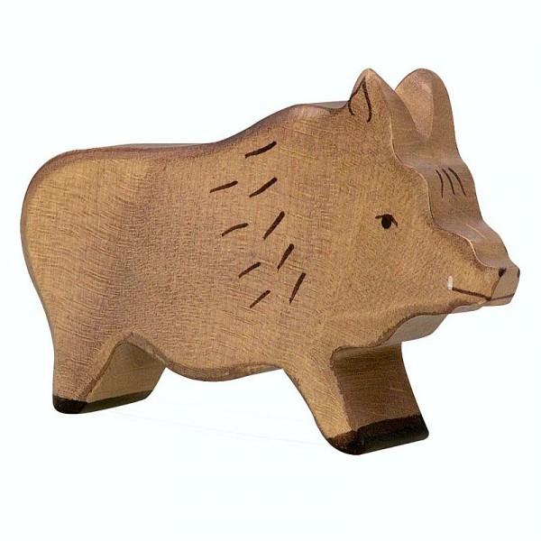 Holztiger Spielfigur Wildschwein, Eber