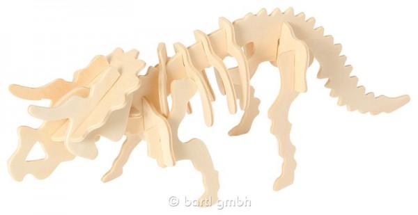 3D Holzbausatz Dinosaurier Triceratops