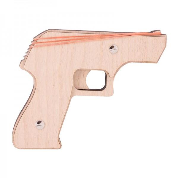 """Holzbausatz Gummi Gun """"Agent Gun"""""""