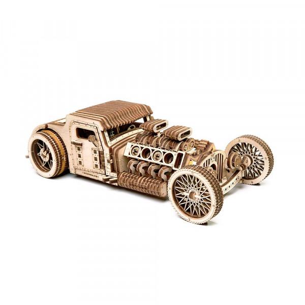 Wood Trick 3D Holzbausatz Hot Rod mit mechanischer Funktion