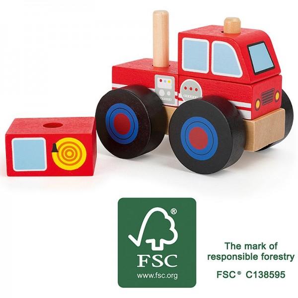 Konstruktionsfahrzeug Feuerwehr, Feuerwehrwagen zum Zusammenstecken