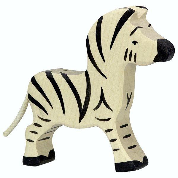 Holztiger Spielfigur, Zebra, klein