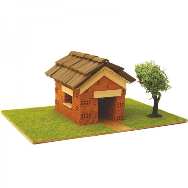Steinbausatz Haus Kid 2, Ziegelsteinbausatz zum Mauern