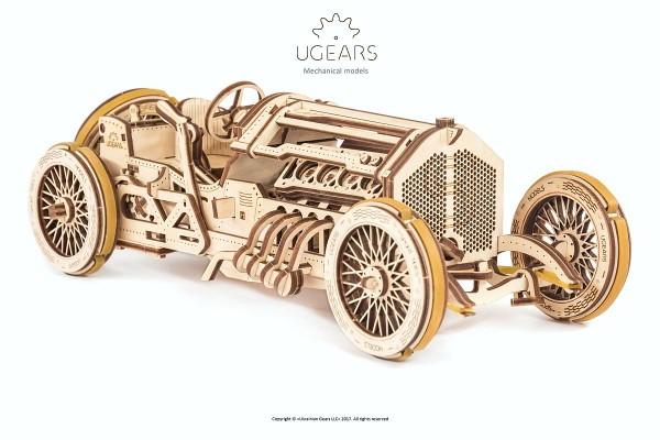 Ugears mechanischer Holzbausatz U-9 Grand Prix Car