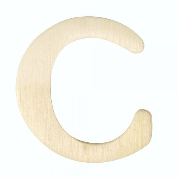 Holz-Buchstabe C, 4 cm