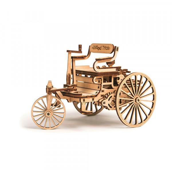Wood Trick, 3D Holzbausatz First Car Motorkutsche, mit mechanischer Funktion, lasercut