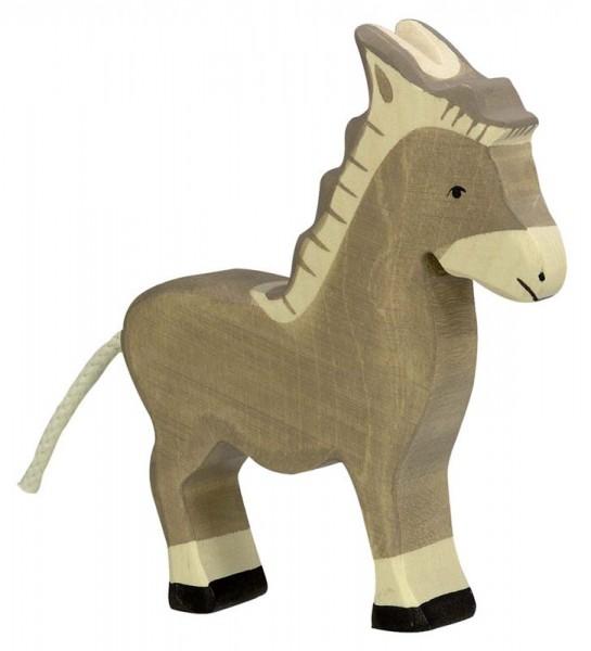Holztiger Spielfigur Esel