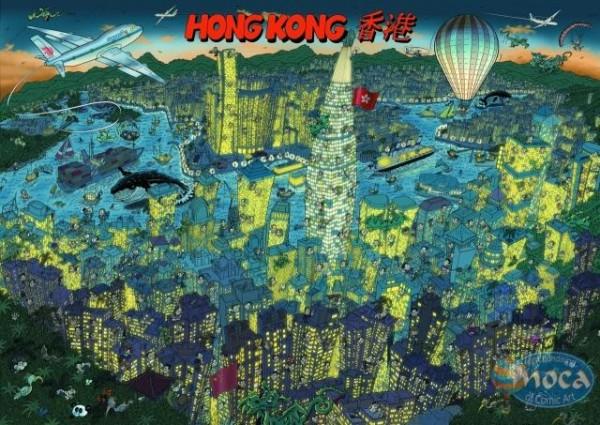 Moca Puzzle Hongkong 500 Teile
