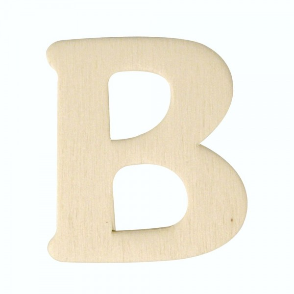 Holz-Buchstabe B, 4 cm